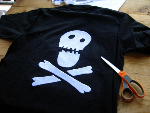 pirate, drapeaux, flag, t shirt, recylage, recycling